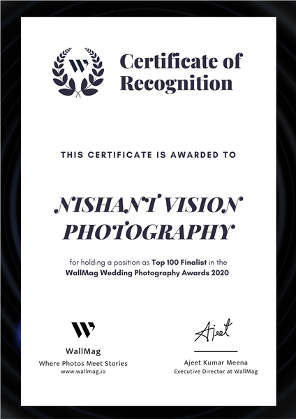 Selected in the Top 100 in WallMag Wedding Photography Awards 2020