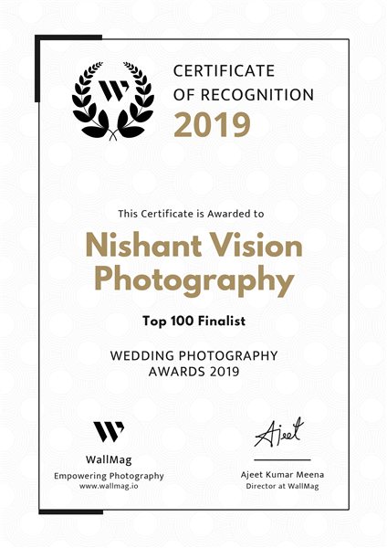Selected in the Top 100 in WallMag Wedding Photography Awards 2019